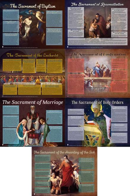 Seven Sacraments Explained Poster Value Pack