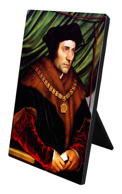 St. Thomas More Vertical Desk Plaque