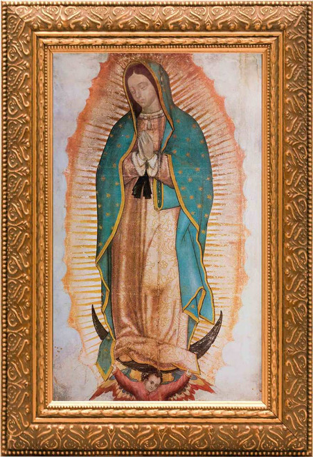 Our Lady of Guadalupe (Traditional) Canvas - Gold Framed Art