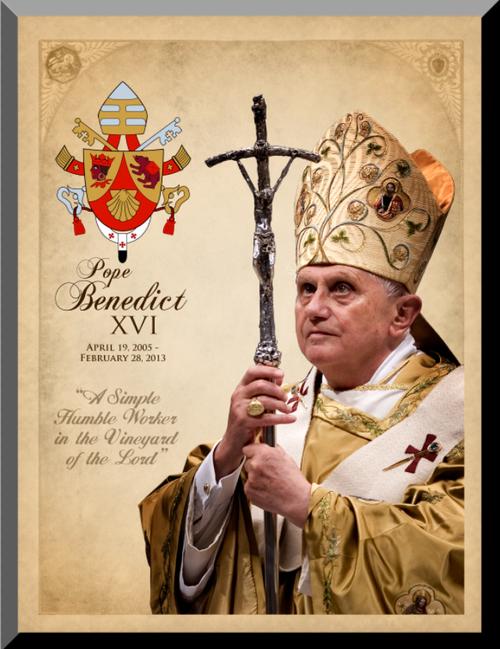 Pope Benedict XVI Commemorative Wall Plaque