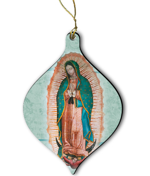 Our Lady of Guadalupe Wood Ornament