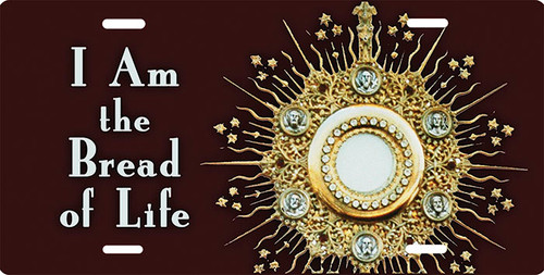 Eucharist in Monstrance 'Bread of Life' License Plate