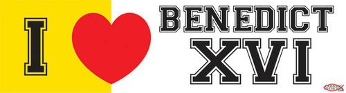 I Love Benedict XVI Vinyl Bumper Sticker