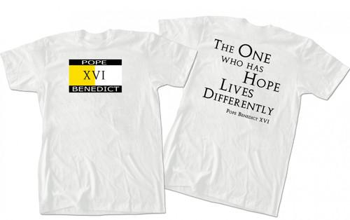 NEW Pope Benedict XVI HOPE T-shirt