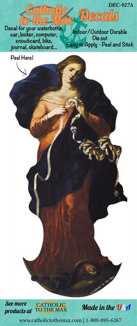 Mary Undoer of Knots Decal