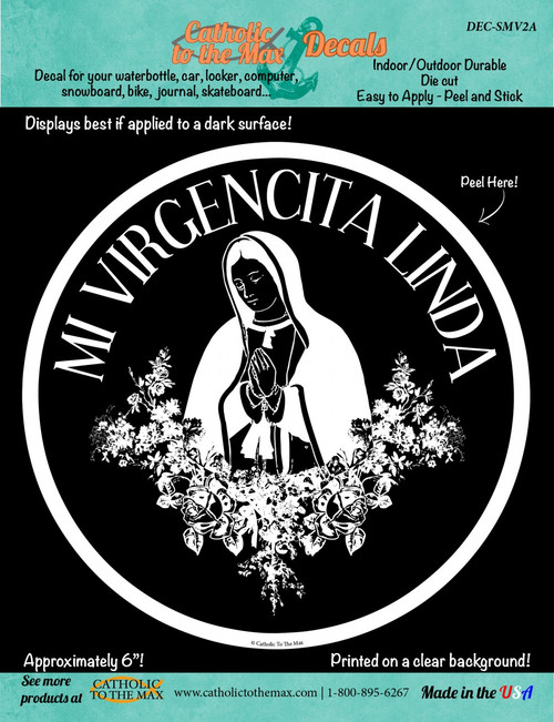 Our Lady of Guadalupe (White) Decal