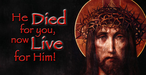He Died For You Vinyl Bumper Sticker