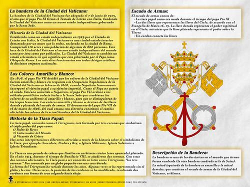 Spanish Vatican Flag Explained Poster