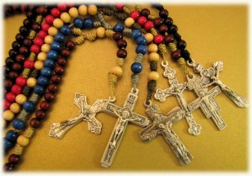 5MM Handmade Wood Cord Rosaries