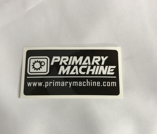 Primary Machine Black & White Sticker