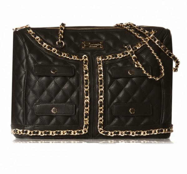 Designer Quilted Blazer Cut Handbag