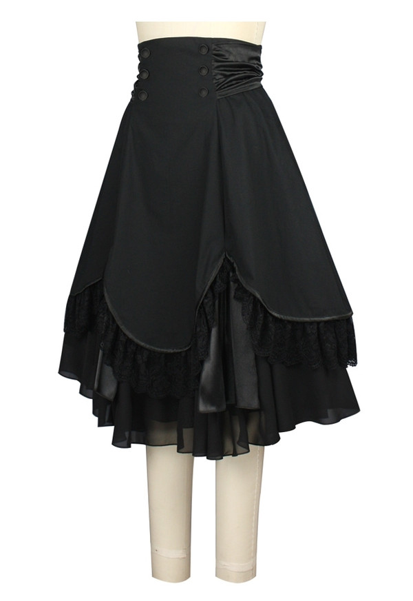 Beautiful Black Plus Sz Multi-Layered Skirt