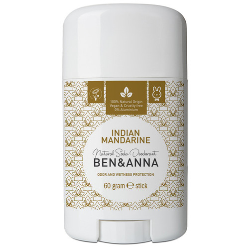 Natural Soda Deodorant Stick - Indian Mandarin 60g