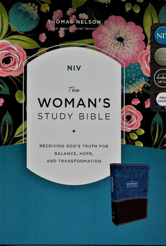 NIV The Woman's Study Bible - blue/brown leathersoft, large print, full colour.