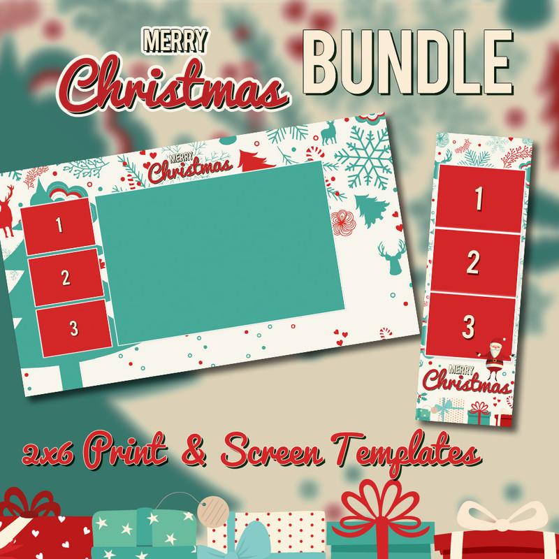 Christmas Bundle - 2x6 Print Template and Screen Template