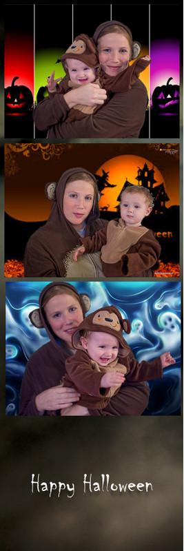 Kids Halloween 2x6 Green Screen Print Template