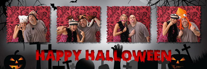 Halloween 2x6 Scary Strip Print Template