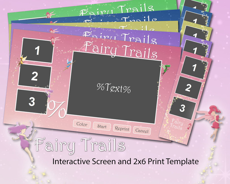 Fairy Trails Interactive Screen and 2x6 Print Templates
