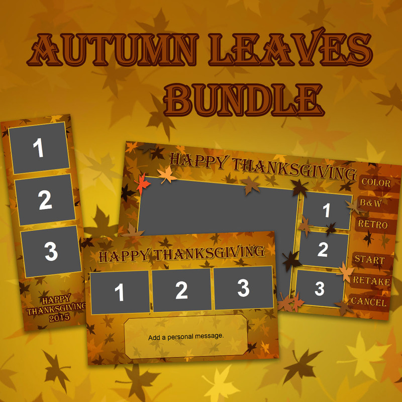 Autumn Leaves Bundle - 2x6, 4x6 and Screen Templates
