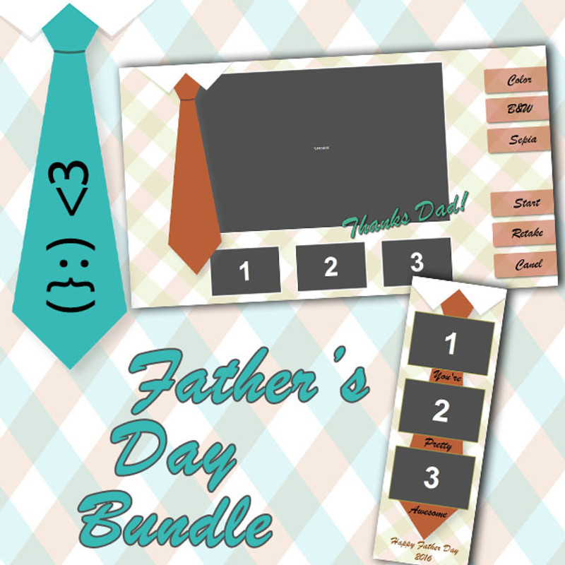 Fathers Day Bundle (Tie) - 2x6 Print and Screen Template