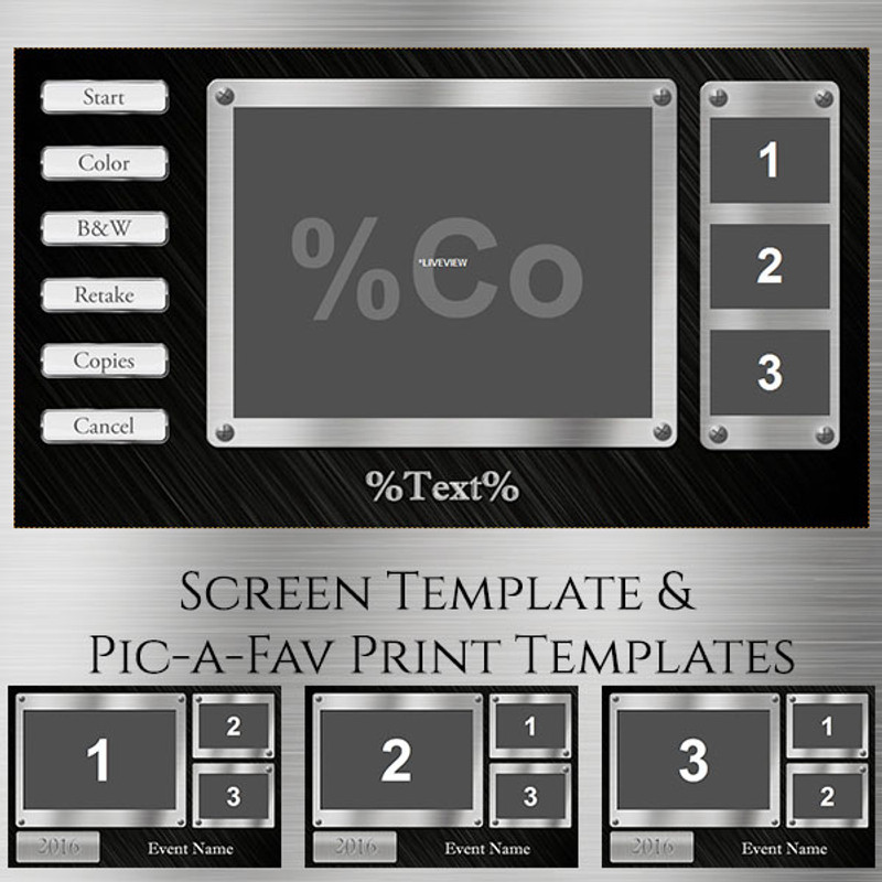 Metal Pic-a-Fav - 2x6 Print and Screen Template