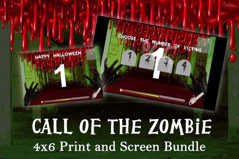 Call of the Zombie 4x6 and screen Template