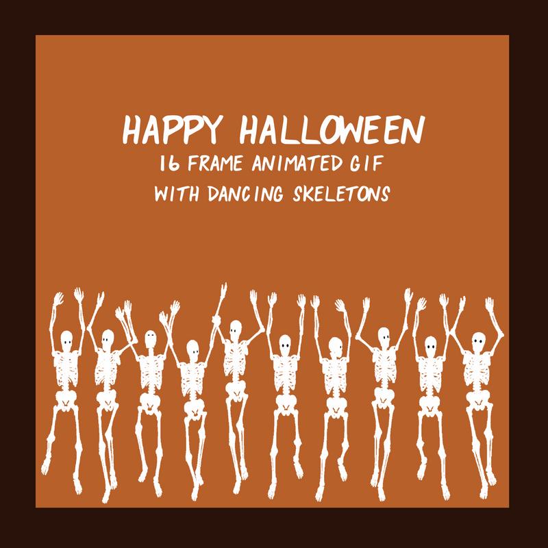 Dancing Skeleton Animated GIF