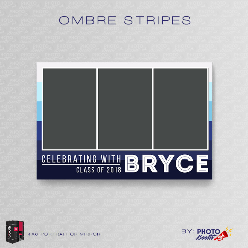 Ombre Stripes 4x6 Portrait Mirror - CI Creative