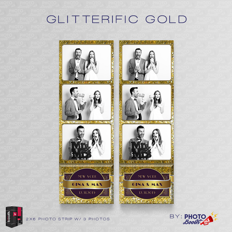 Glitterific Gold 2x6 3 Images
