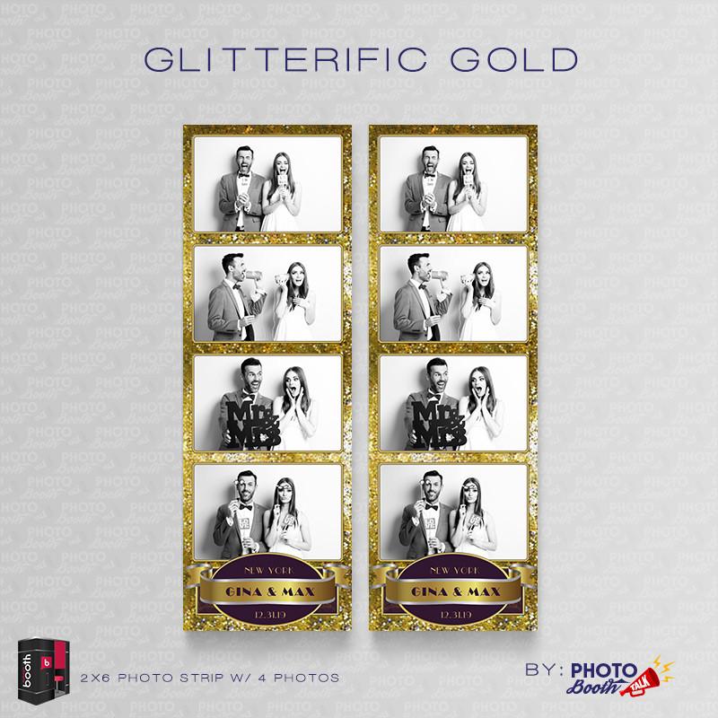 Glitterific Gold 2x6 4 Images