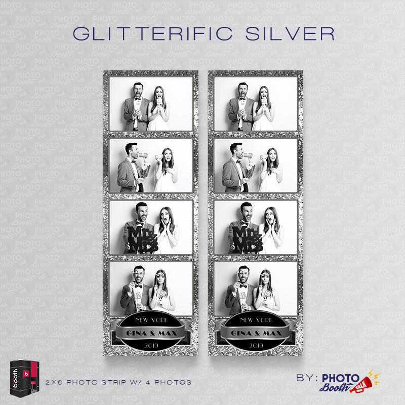 Glitterific Silver 2x6 4 Images