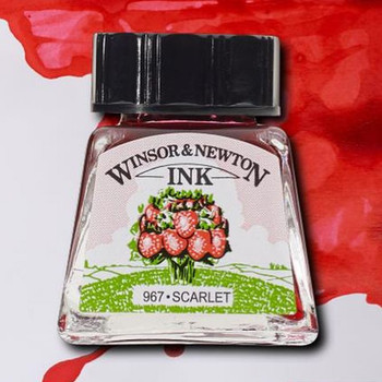 W&N Drawing Ink 14ml, Scarlet