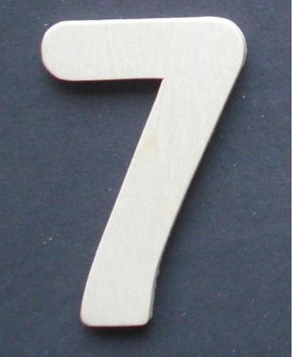 Wooden Number 7