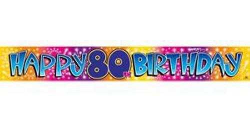 BANNER HAPPY 80TH BIRTHDAY