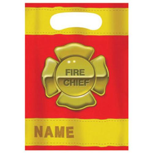 Firefighter Loot Bag Bag (16cm x 22cm) - Pack of 8