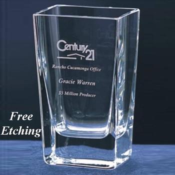 Small Lantana Crystal Vase