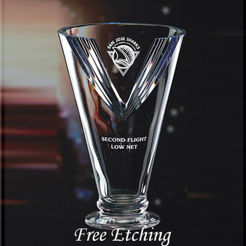 Engraved Crystal Victory Cup