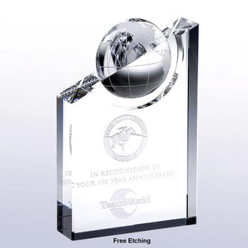 World Globe Pinnacle Crystal Award