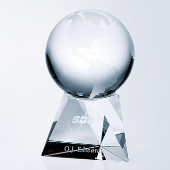 Crystal Globe on Short Base
