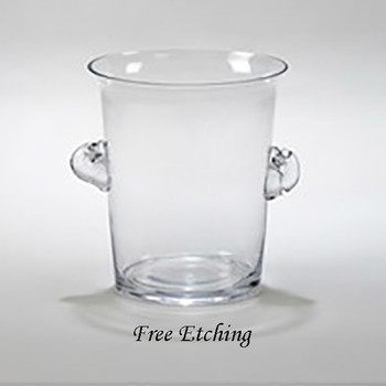Large Glass Ice Bucket