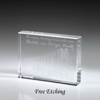 Optic Crystal paperweight