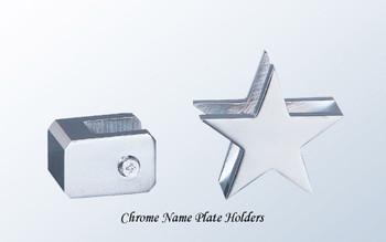 Chrome Name Plate Holders