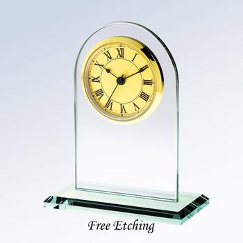 Gold Roman Arch Clock
