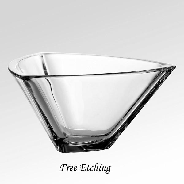 Crystal Triangle Bowl