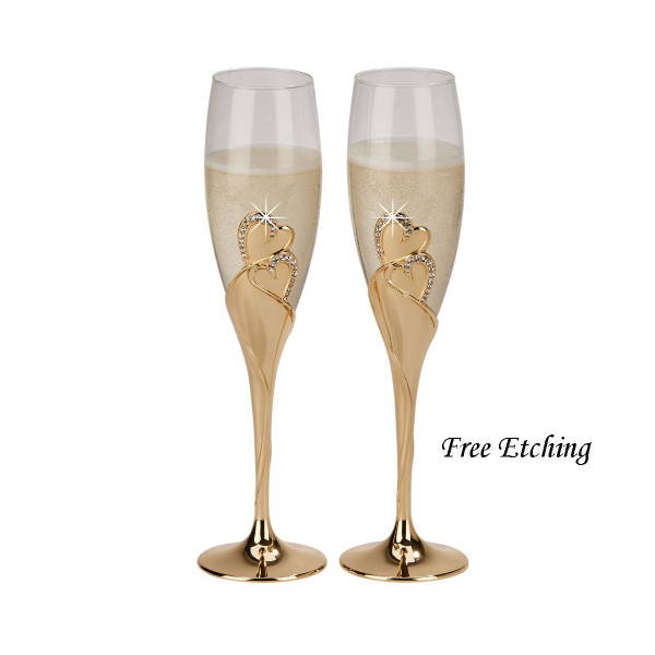 Forever Gold Toasting Flutes