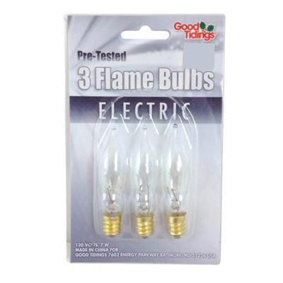 Clear Flame bulbs