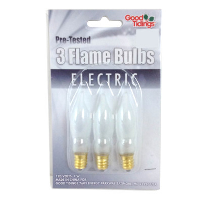 Frosted Flame bulbs