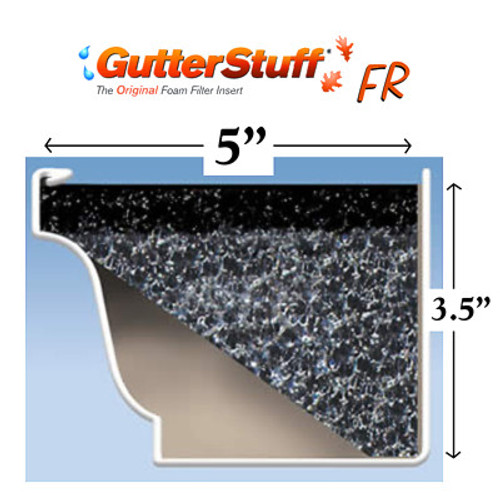 "GutterStuff FR 5"" Gutter Guard 4' Length (25-Year No-Clog Warranty)"