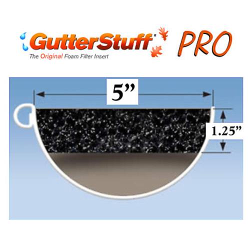 """GutterStuff PRO 5"""" Half Round Gutter Guard 4' Length"""