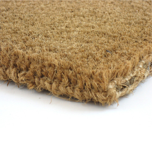"Premium Thin Natural Coir Fiber Mat - 7/8"" Thick - Assorted Sizes"